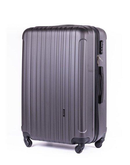 Średnia walizka podróżna na kółkach SOLIER STL2011 M ABS ciemnoszara