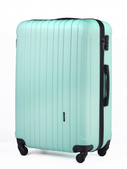 Duża walizka podróżna na kółkach SOLIER STL2011 L ABS miętowa