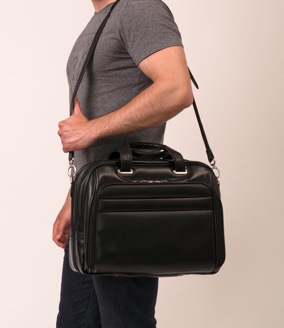 """Męska torba skórzana na laptopa 17"""" Mcklein Springfield 86594 brązowa"""