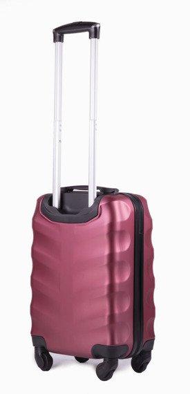 Mała walizka podróżna na kółkach (bagaż podręczny) SOLIER STL402 ABS S bordowa