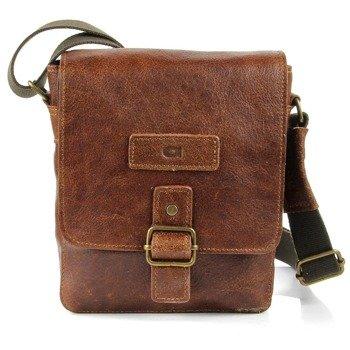 DAAG Jazzy Organic 4 skórzana torba na ramię unisex koniakowa
