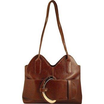 DAN-A T10 koniakowa torebka skórzana damska