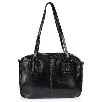 DAN-A T130 czarna torebka skórzana damska