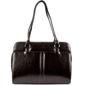 DAN-A T144 czekoladowa torebka skórzana damska klasyczna