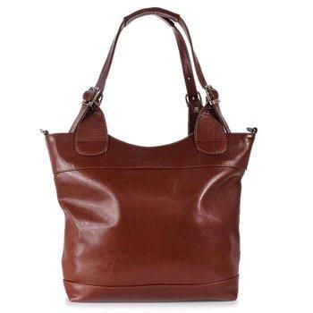 DAN-A T195A koniakowa torebka skórzana elegancka
