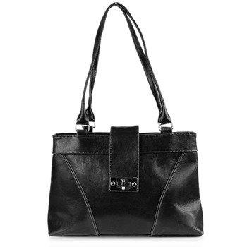 DAN-A T196 czarna torebka skórzana damska
