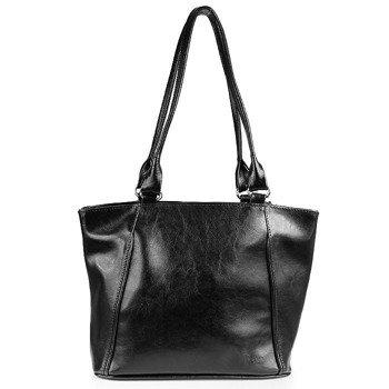 DAN-A T208 czarna torebka skórzana damska