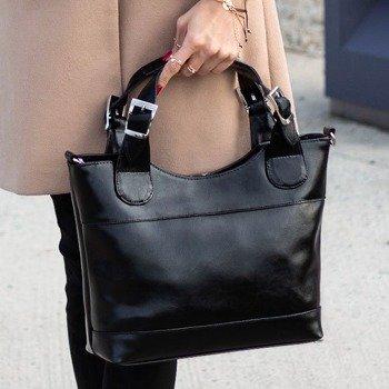 DAN-A T214 czarna torebka skórzana damska kuferek