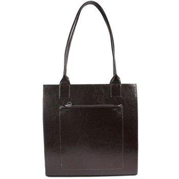 DAN-A T246 czekoladowa torebka skórzana damska