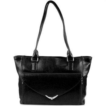 DAN-A T248 czarna torebka skórzana damska