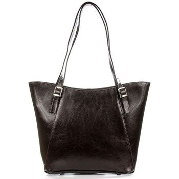 DAN-A T275 czekoladowa torebka skórzana damska elegancka