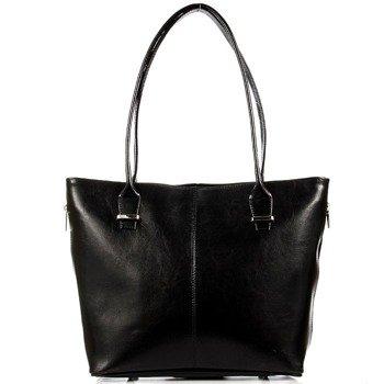 DAN-A T295 czarna torebka damska ze skóry naturalnej