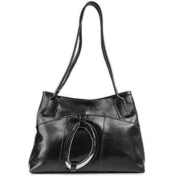 DAN-A T8 czarna torebka skórzana damska