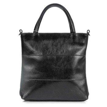 DAN-A T86 czarna torebka skórzana damska aktówka