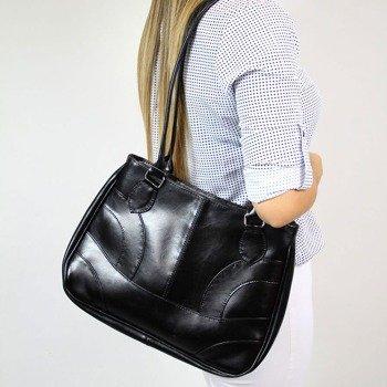 DAN-A T93 czarna torebka skórzana damska