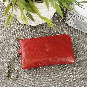 KRENIG Classic 12021 czerwone skórzane etui na klucze