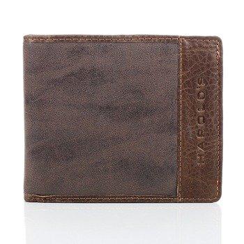 Półskórzany czarny portfel męski GA2