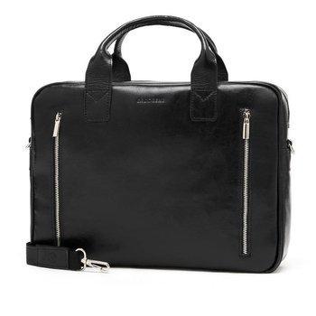 Skórzana torba męska na laptopa BRODRENE R02 czarna