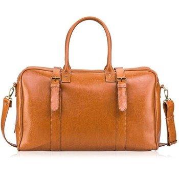 95fbb51ec0735 Skórzana torba męska podróżna