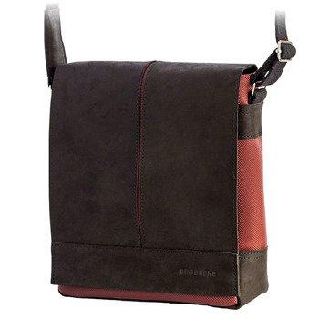 Skórzana torba męska raportówka BRODRENE ML16 bordowa