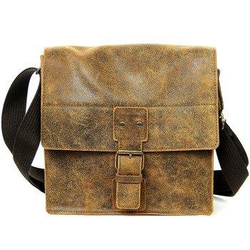 Skórzana torba na ramię brązowa 2JUS by DAAG Land 3