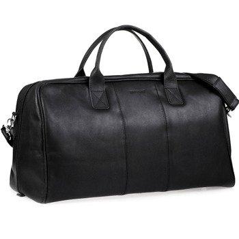 7d5c036f626cd Skórzana torba podróżna BRODRENE BL10 czarna