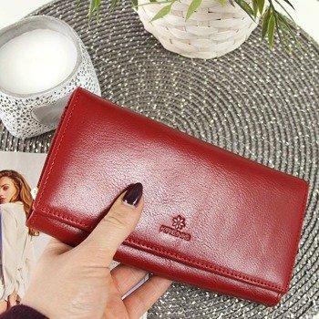 9dbad601d1982 Skórzany portfel damski KRENIG Classic 12015 czerwony w pudełku