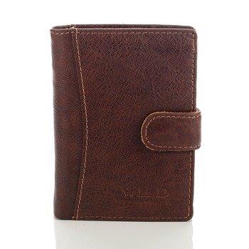 Skórzany portfel męski brązowy GA96
