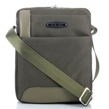 Solidna torba na ramię raportówka z nylonu khaki GA24