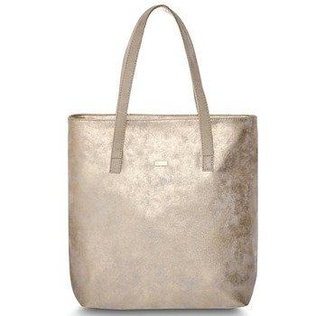 Torba damska shopper bag FELICE D01 light gold