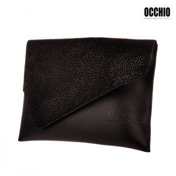 Włoska kopertówka skórzana Occhio Frizoine 12 czarna