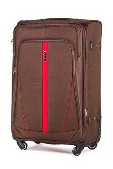 Zestaw walizek miękkich Solier STL1706 brązowy
