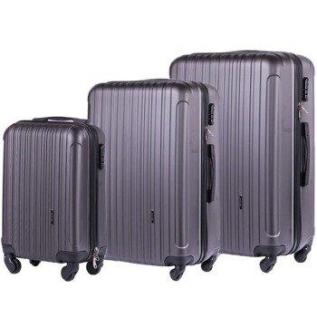 Zestaw walizek podróżnych na kółkach SOLIER STL2011 ABS ciemnoszary