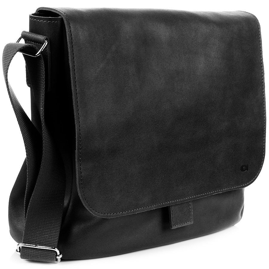 DAAG Jazzy Smash 13 czarna skórzana torba na ramię unisex