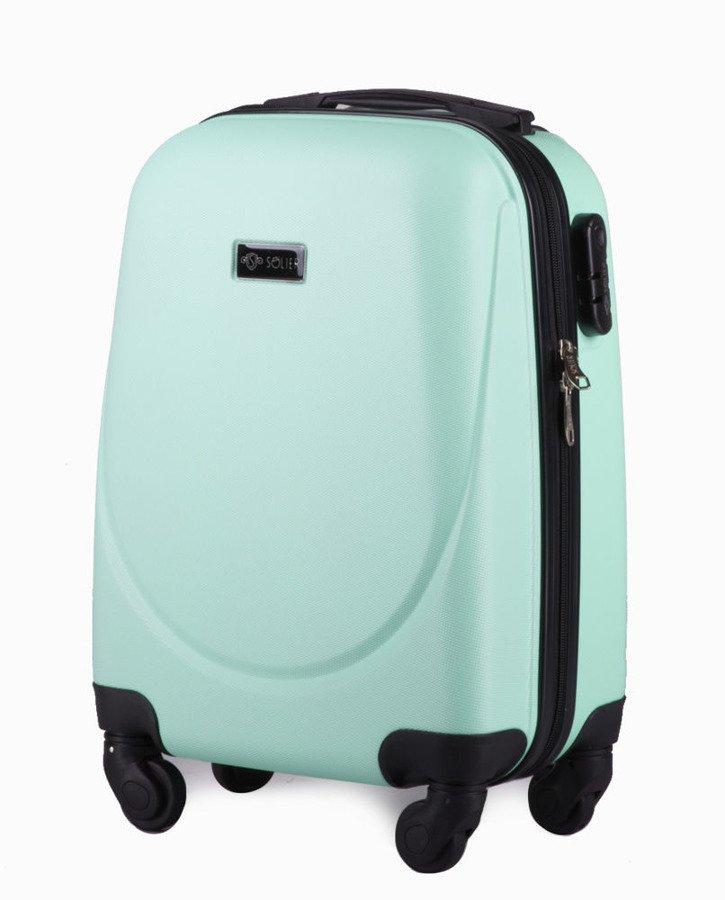 335b8002d2d71 Mała walizka podróżna na kółkach (bagaż podręczny) SOLIER STL310 XS ABS  jasnozielona ...