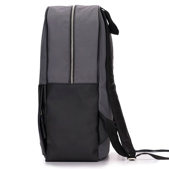 11f77ecfc8c60 ... Męski plecak miejski na laptopa Solier SR01 FORRES szaro-czarny ...
