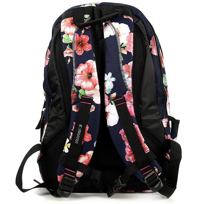 Plecak szkolny dziewczęcy granatowy w kwiatki STARTER PL9