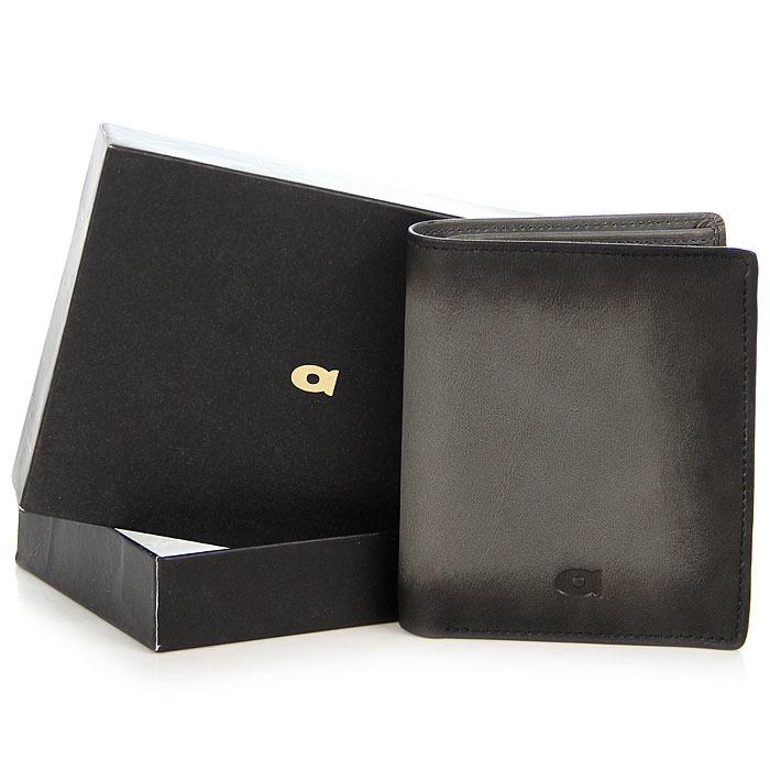 Portfel skórzany DAAG Alive P-06 vintage szary w pudełku