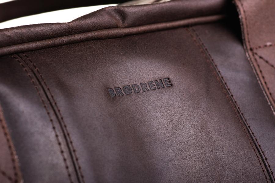 Skórzana torba podróżna BRODRENE BL10 ciemnobrązowa