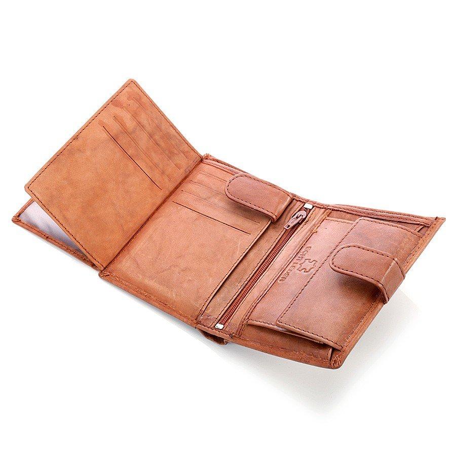 265f766fe2411 Skórzany portfel męski Bag Street GA185 brązowy -  12851 ...