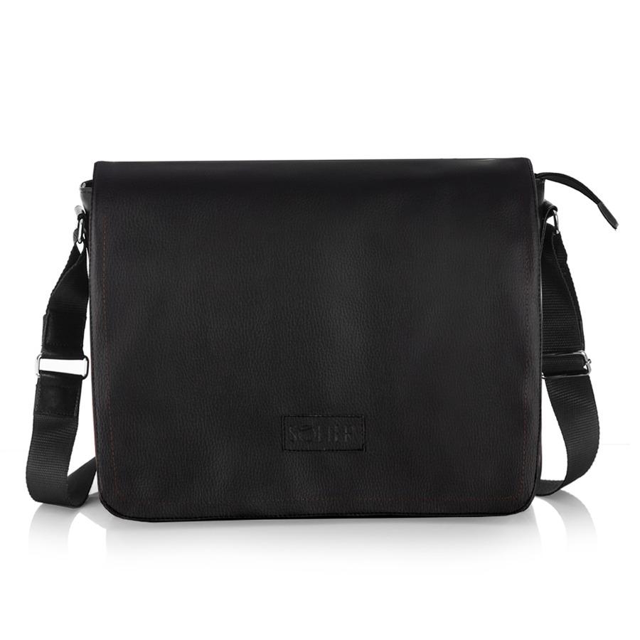 9fc83d242ac99 Stylowa torba męska na ramię casual SOLIER S11 czarna -  14461 ...