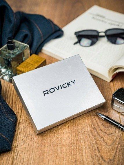 Portfel męski Rovicky 323-RBA-D NAVY-RED