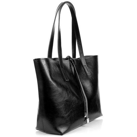 Skórzana torebka na ramię czarna DAN-A T352