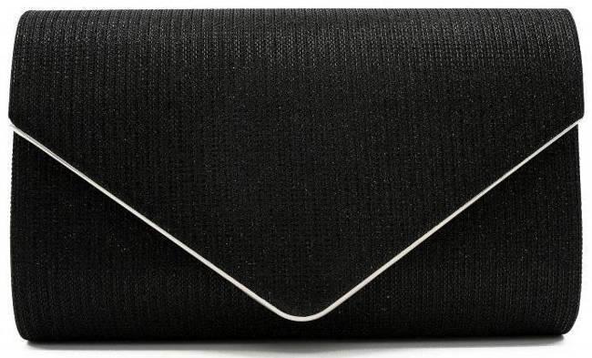 Brokatowa kopertówka czarna LORENTI PP-EB-39 BLACK