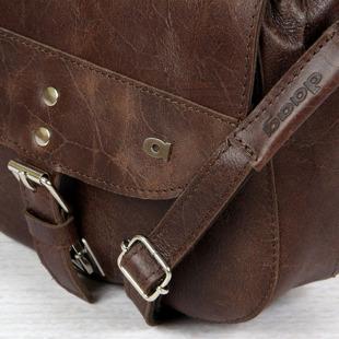 DAAG FUNKY GO! 23 brązowa torba skórzana listonoszka unisex