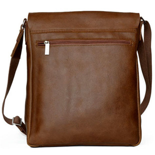 DAAG Jazzy Smash 71 koniakowa skórzana torba na ramię