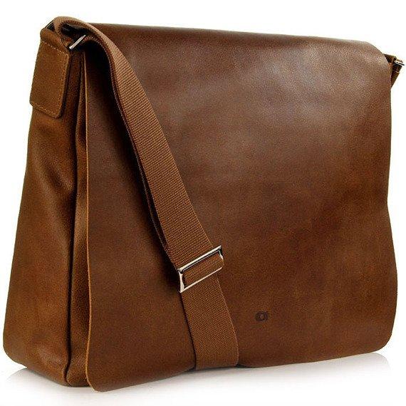 DAAG Jazzy Smash 74 koniakowa skórzana torba na tablet unisex