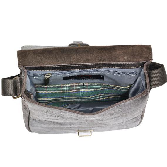 DAAG Jazzy Wanted 11 ciemnobrązowa torba skórzana unisex listonoszka przez ramię