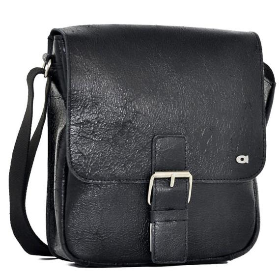 DAAG Jazzy Wanted 11 czarna torba skórzana unisex listonoszka przez ramię