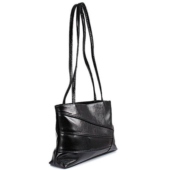 DAN-A T126 czarna torebka skórzana damska